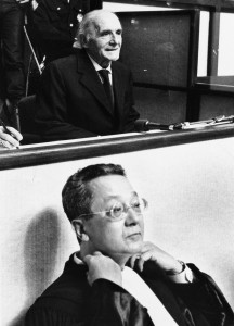 File photo of French lawyer Jacques Verges who has died aged 88 in Paris at the start of a trial in Lyon