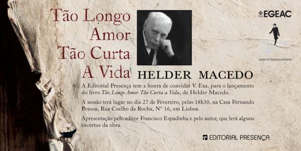 Helder Macedo Convite