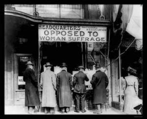 contra o voto das mulheres