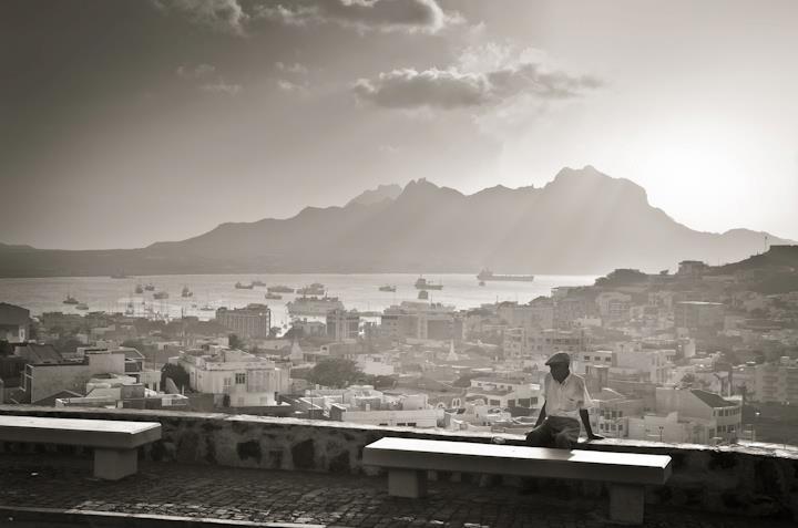 Vista sobre a cidade do Mindelo, Ilha de São Vicente