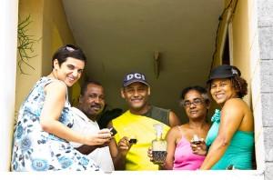 O grupo com a Dona Yolanda e o seu Pontche