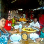 O grupo no restaurante Morabeza