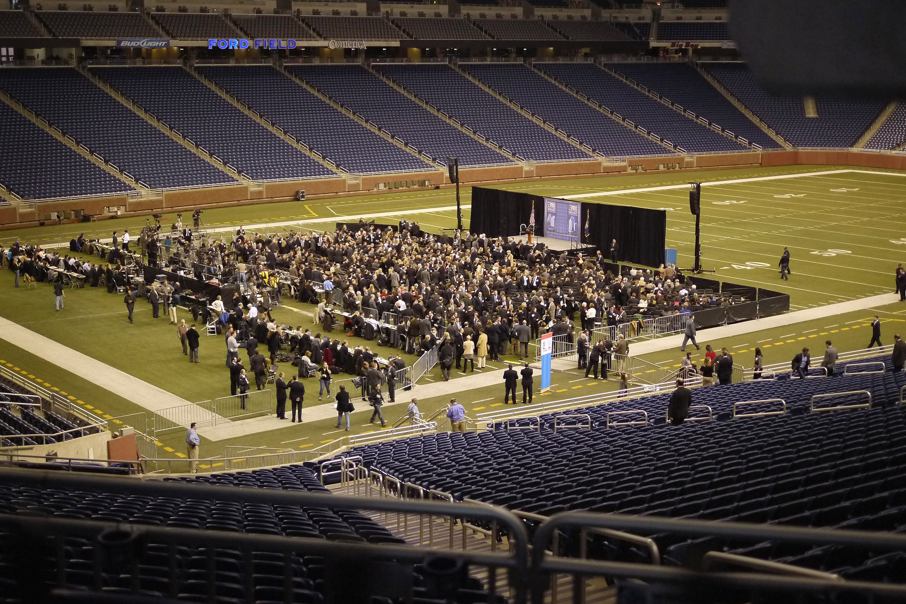 Mitt Romney no Ford Field
