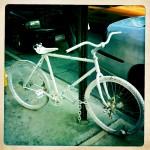bicicleta branca