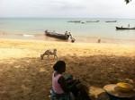 Praia Gamboa, onde apanhámos o bote para o Ilhéu das Cabras
