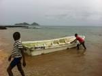 O bote no qual fomos para o Ilhéu das Cabras