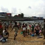 Festa de 1 de Janeiro na praia PM