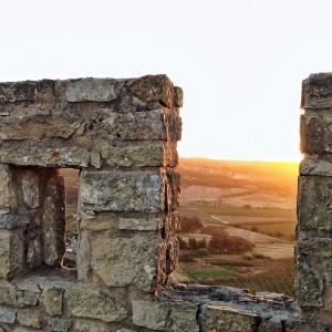 Passeio pelas muralhas do Castelo  de Óbidos