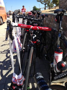 Musette: saco a tiracolo que contém a comida para os ciclistas para durante as etapas
