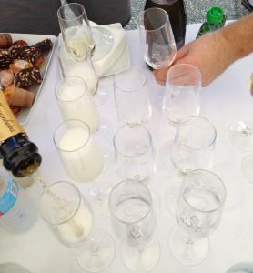 Champanhe no final da última etapa