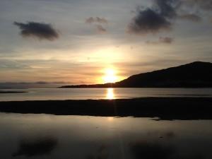 Tempo para descontrair e ver o pôr-do-sol em Caminha