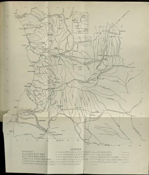 Mapa Angola Gossweiler