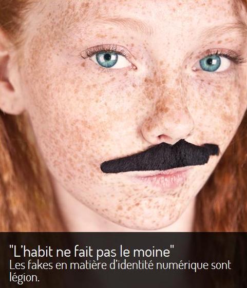 """""""O hábito não faz o monge"""". São inúmeras as falsificações de identidade na Internet."""