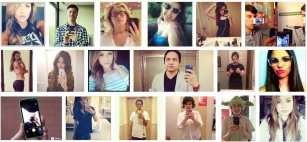 Selfies encontrados numa pesquisa no Google imagens